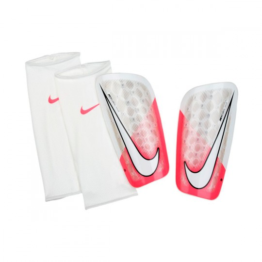 Espinillera  Nike Mercurial Flylite Racer pink-White