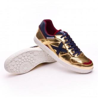 Sapatilha de Futsal  Munich Continental Ouro-Azul Marinho
