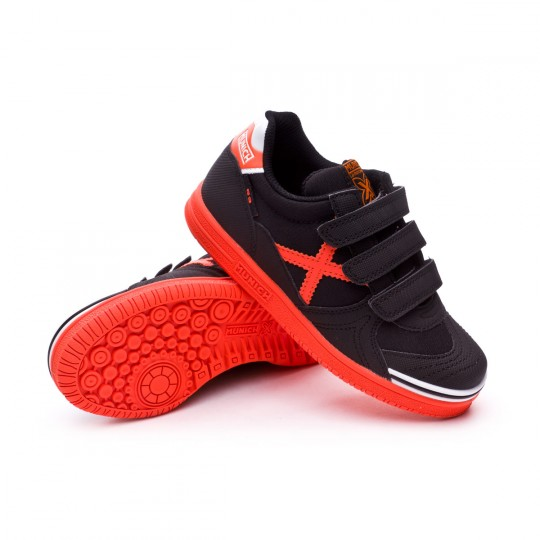Chaussure de futsal  Munich Jr G-3 Classic Kid Velcro Noir-Orange