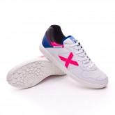 Sapatilha de Futsal Continental Exclusiva Branco-Rosa-Azul