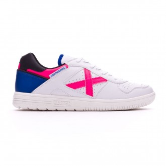 Futsal Boot  Munich Continental Exclusiva White-Pink-Blue