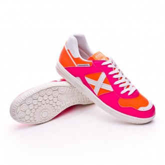 Zapatilla  Munich Continental Exclusiva Rosa-Naranja fluor