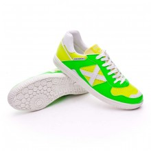 Futsal Boot Exclusive Continental Green-Fluorescent yellow
