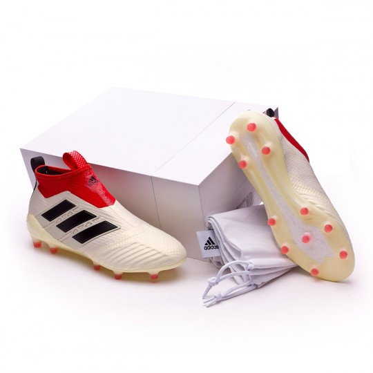 Chuteira  adidas Ace 17+ Purecontrol FG Champagne White-Core black-Red