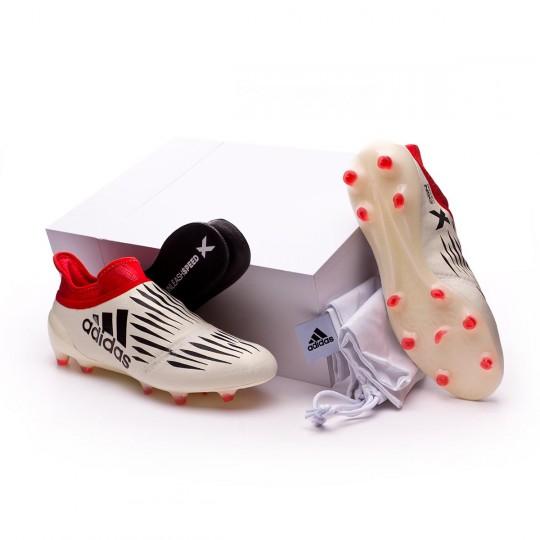 Bota  adidas X 16+ Purechaos FG Champagne White-Core black-Red
