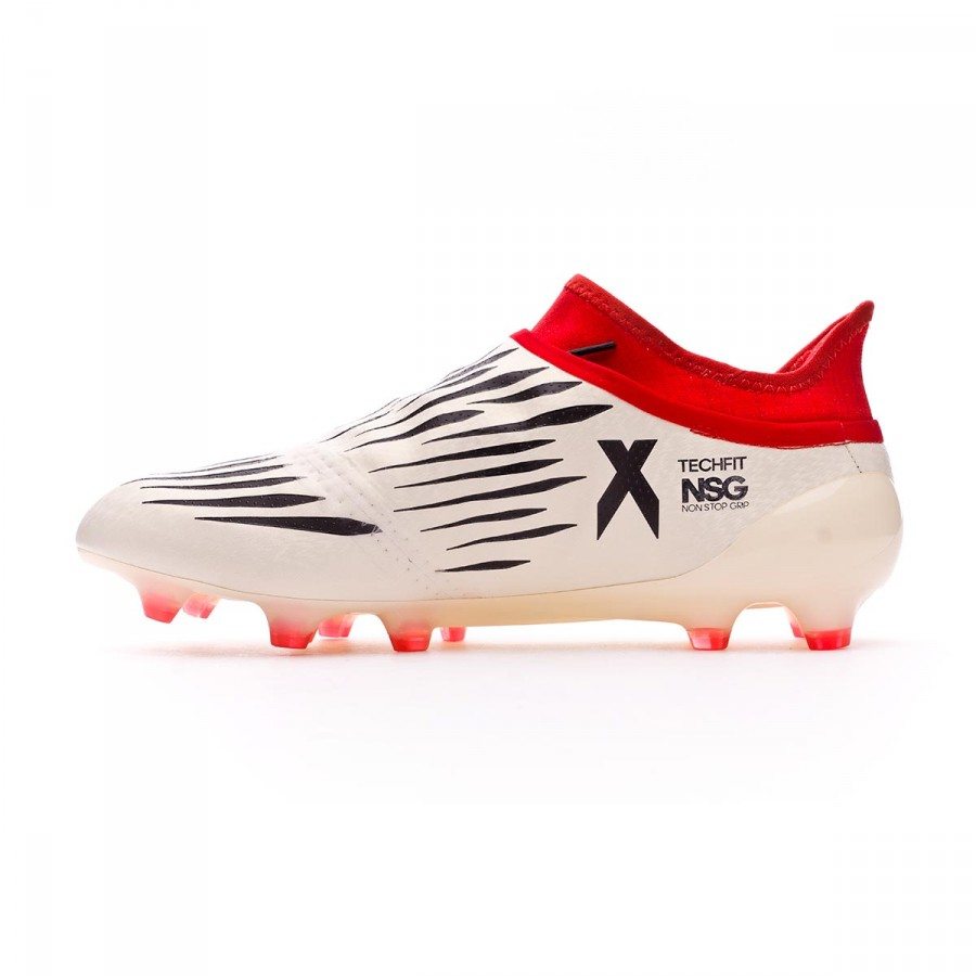af273655ac1 Football Boots adidas X 16+ Purechaos FG Champagne White-Core black-Red -  Football store Fútbol Emotion