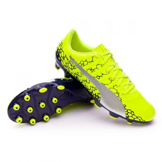Chaussure  Puma evoPOWER Vigor 4 Graphic AG Safety yellow-Silver-Blue depths
