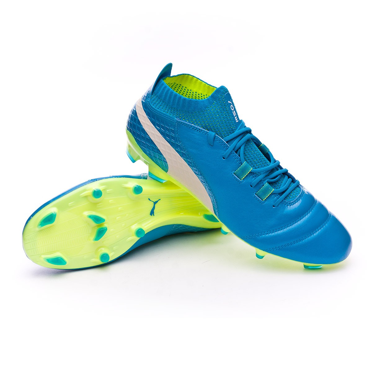 Scarpe Fg Calcio 1 17 Puma One Safety Atomic Blue Yellow White UrUXRwqxZ