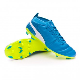 Chuteira  Puma One 17.2 AG Atomic blue-Puma white-Safety yellow
