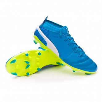 Chuteira  Puma One 17.3 AG Atomic blue-Puma white-Safety yellow