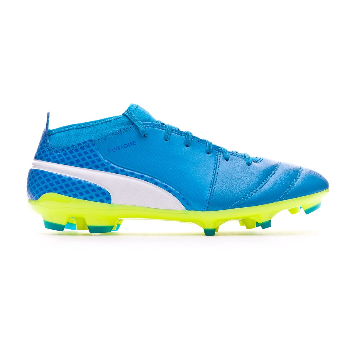 8bd4aba1d3f Boot Puma One 17.3 AG Atomic blue-Puma white-Safety yellow - Leaked soccer