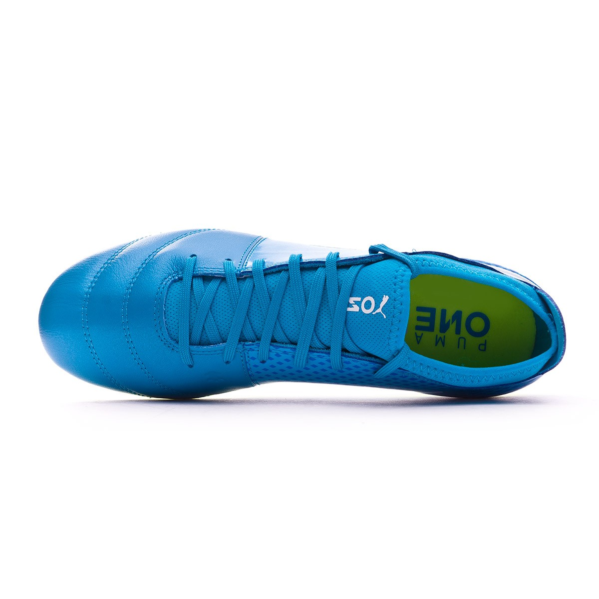 39c2cc4c0da Football Boots Puma One 17.3 AG Atomic blue-Puma white-Safety yellow -  Football store Fútbol Emotion