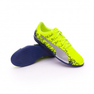 Zapatilla  Puma evoPOWER Vigor 4 Graphic IT Niño Safety yellow-Silver-Blue depths