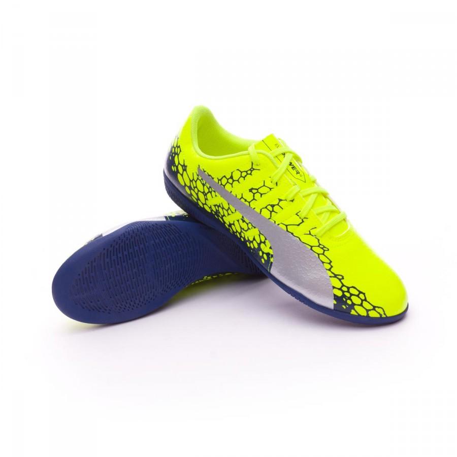 5247760babb9 Futsal Boot Puma evoPOWER Vigor 4 Graphic IT Kids Safety yellow ...