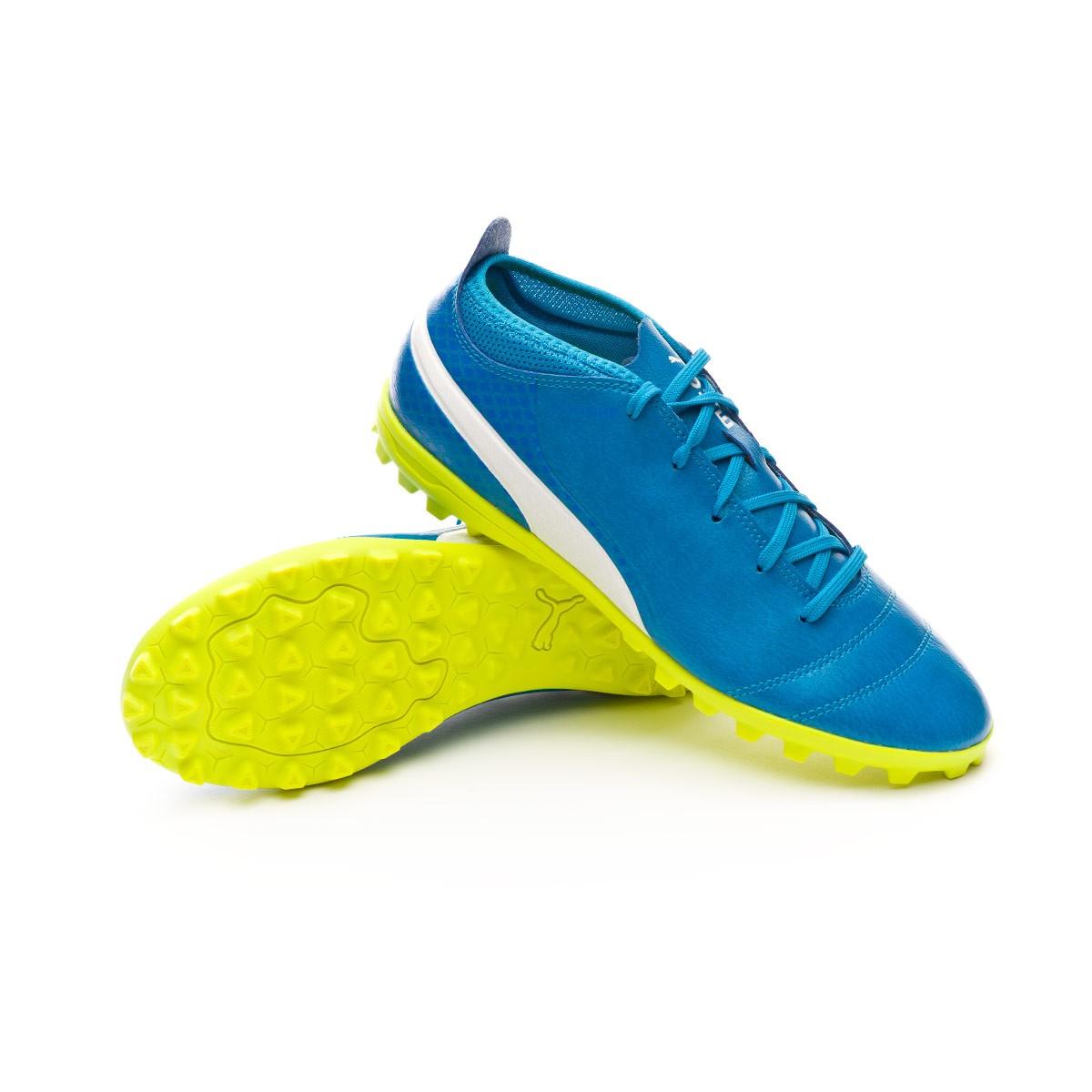 2a397358b Football Boot Puma Kids ONE 17.4 TT Atomic blue-Puma white-Safety ...
