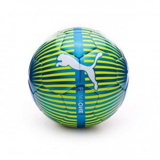 Balón  Puma One Chrome Atomic blue-Puma white-Safety yellow