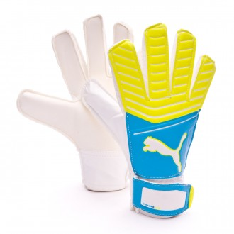 Glove  Puma One Grip 17.4 Atomic blue-Puma white-Safety yellow