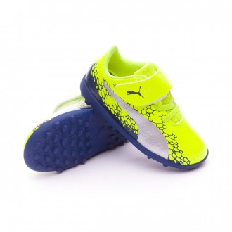 Scarpa  Puma evoPOWER Vigor 4 GR TT Velcro Safety yellow-Silver-Blue depths