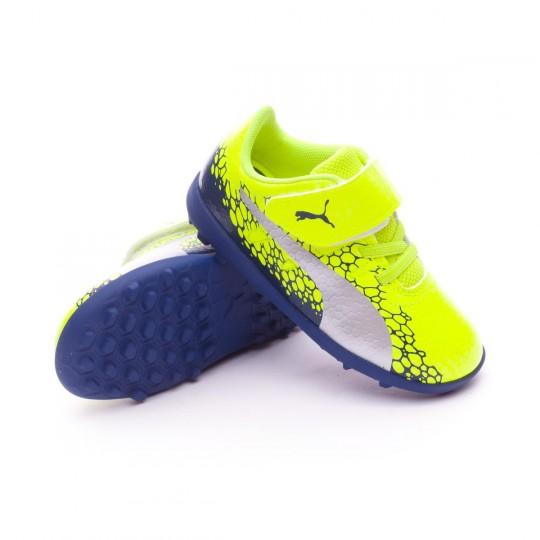 Chaussure  Puma evoPOWER Vigor 4 GR TT Velcro Safety yellow-Silver-Blue depths