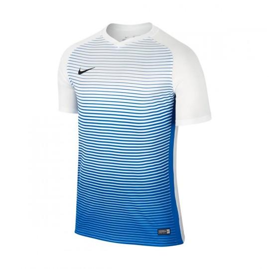 Maillot  Nike jr Precision IV m/c White-Royal blue