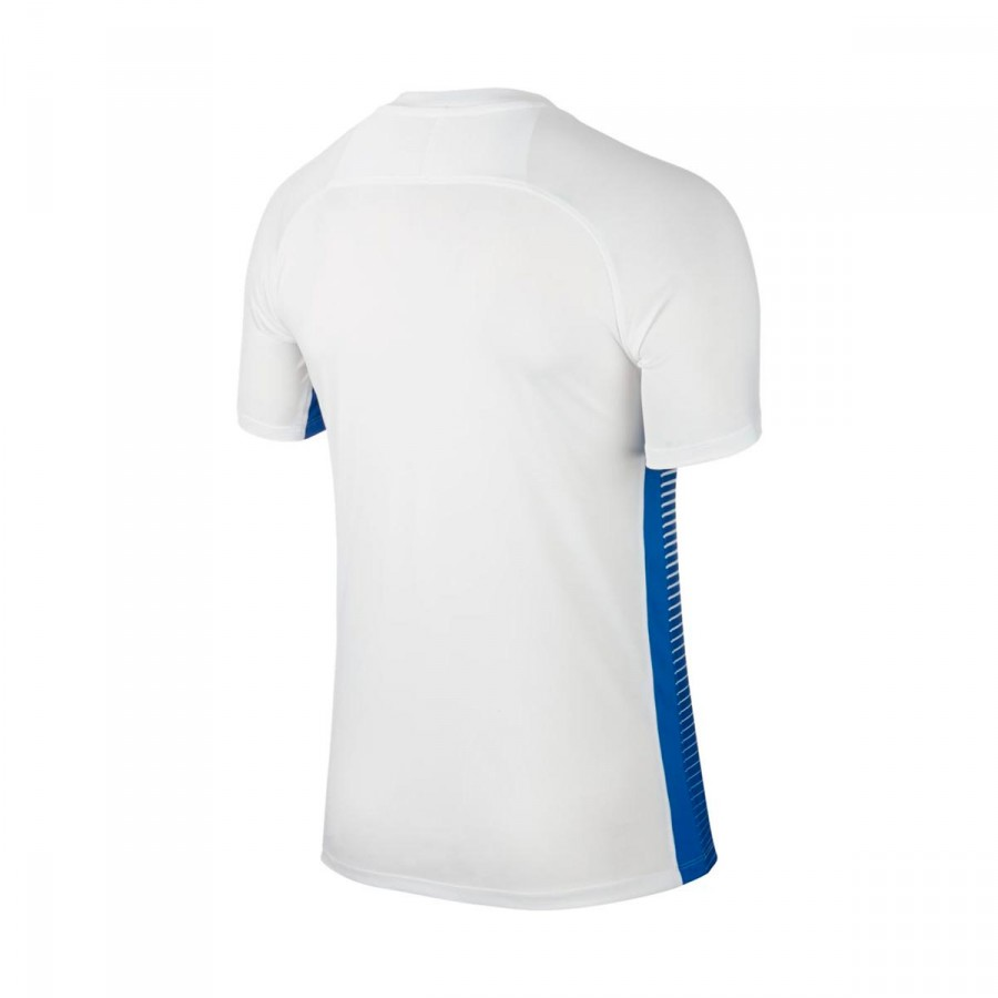 0f86add91e1c9 Camiseta Nike Precision IV m c Niño White-Royal blue - Tienda de fútbol  Fútbol Emotion