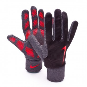 Guante  Nike Hyperwarm Field Player Black-Bright crimson