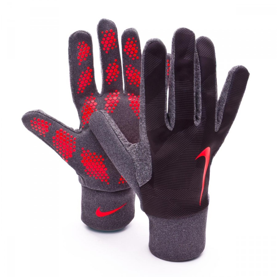 Nike Gloves Hyperwarm Cheap: Glove Nike Hyperwarm Field Player Black-Bright Crimson