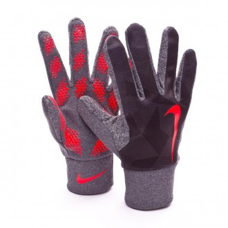 Guante  Nike Hyperwarm Field Player Black-Bright crimson