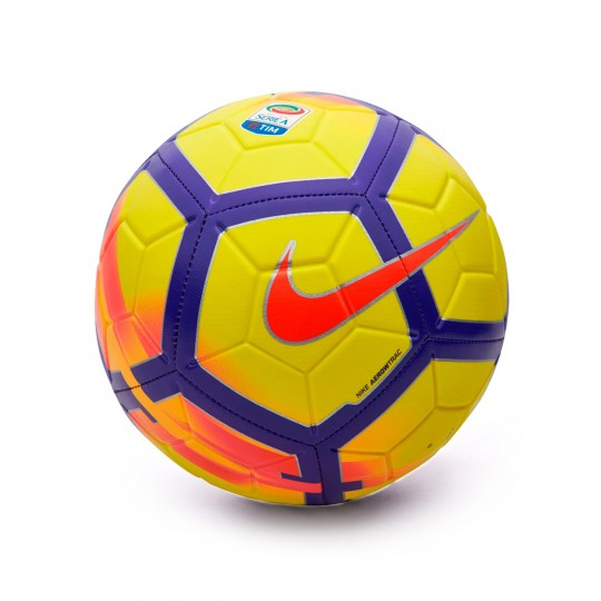 Balón  Nike Serie A Strike Football Yellow-Crimson-Purple