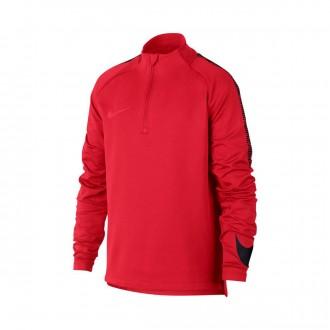 Camiseta  Nike Squad Dry Niño University red-Black