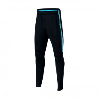 Pantalon  Nike Jr Squad Dry Black-Light blue fury