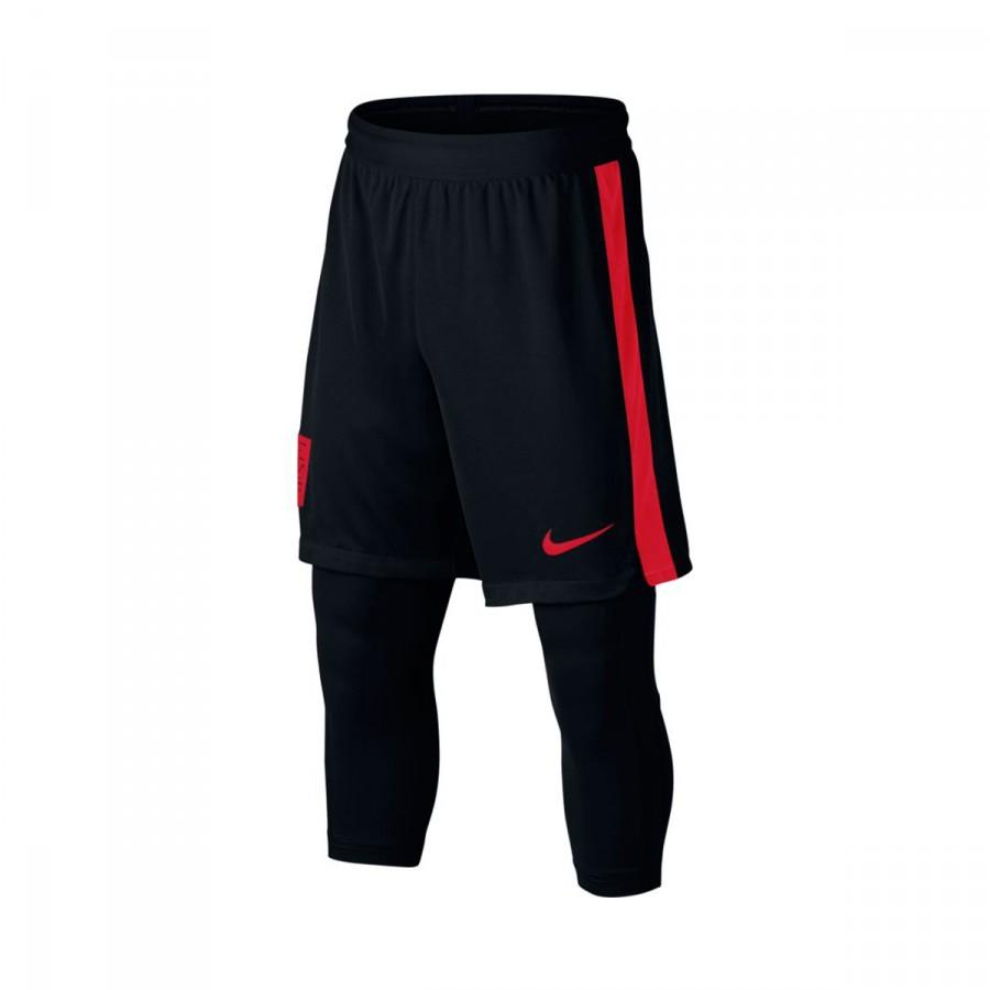 Squad Corto Black Dry 2in1 University Red Niño Neymar Pantalón 4Lj53AR