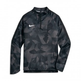 Camiseta  Nike Shield Squad Football Dril Niño Black-White