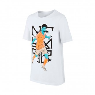 Camiseta  Nike Dry Neymar Hero Niño White