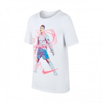 Camisola  Nike Dry Ronaldo Hero Criança White