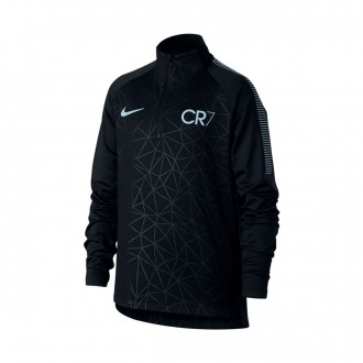 Camiseta  Nike Squad Dry CR7 Niño Black-blue tnt-Armory blue
