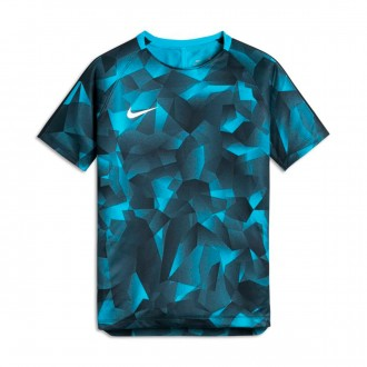 Maillot  Nike Jr Squad Dry SS GX CL Light blue fury-Armory navy-White