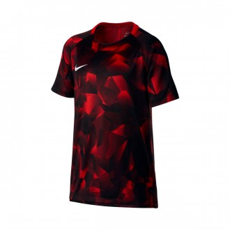 Camiseta  Nike Squad Dry SS GX CL Niño University red-Black-White