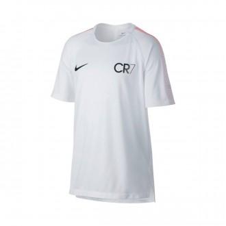 Camiseta  Nike Squad Dry CR7 SS GX Niño White-Blue tint
