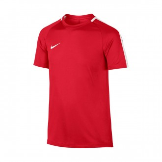 Camiseta  Nike Academy Dry SS University red-White