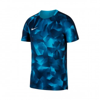 Camiseta  Nike Squad Dry SS CL Light blue fury-Armory navy