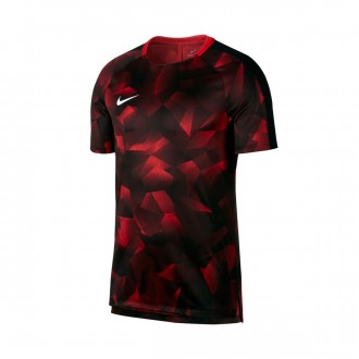 Camiseta  Nike Squad Dry SS CL University red-Black-White
