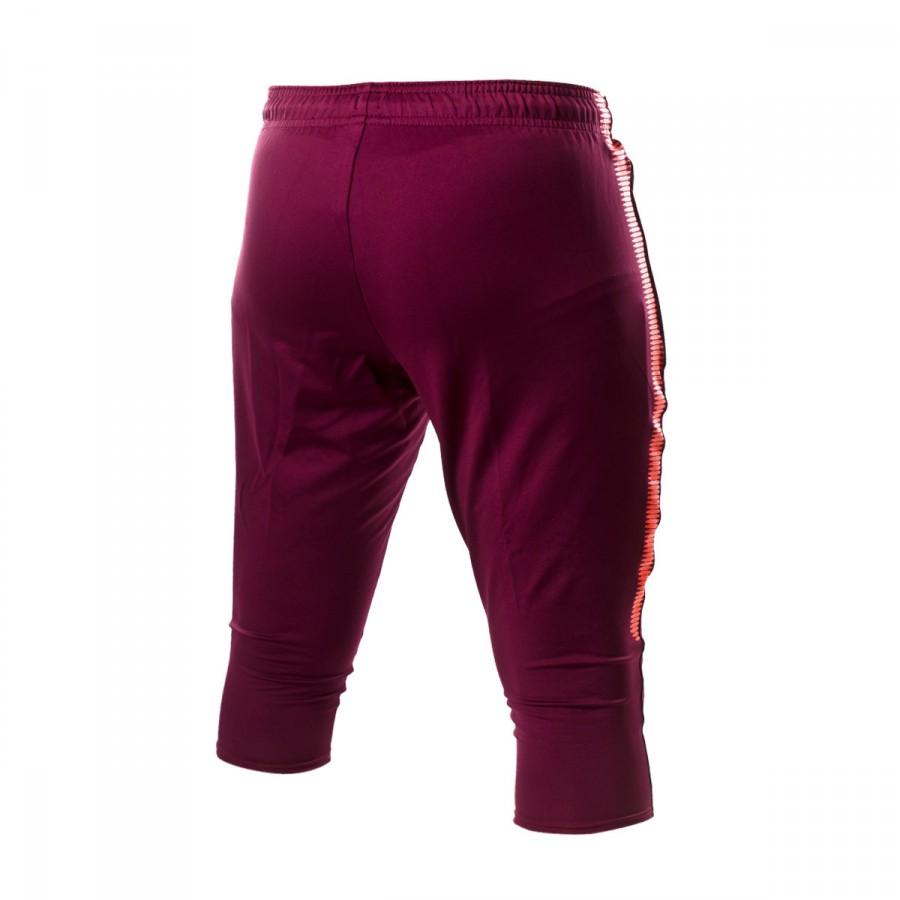 9a326544cb1e Nike FC Barcelona Squad 2017-2018 Capri pants. Hyper crimson-Night maroon  ...