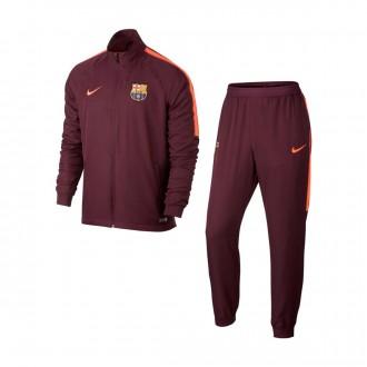 Fato de treino  Nike FC Barcelona Dry Squad 2017-2018 Hyper crimson-Night maroon