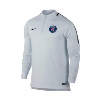 Sudadera  Nike Paris Saint-Germain Squad Dril 2017-2018 Pure platinum-Black