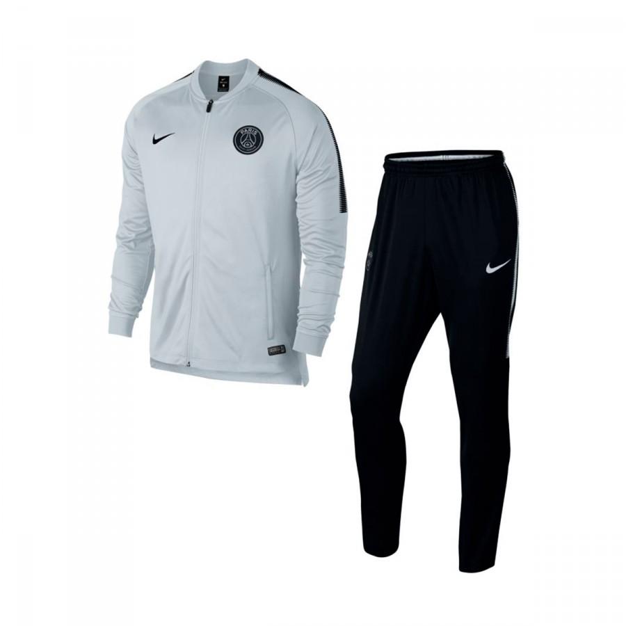 fb50195d7c115 Tracksuit Nike Paris Saint-Germain Squad 2017-2018 Pure platinum-Black -  Soloporteros es ahora Fútbol Emotion
