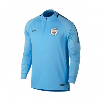 Sudadera  Nike Manchester City FC Squad Dril 2017-2018 Field blue-Outdoor green