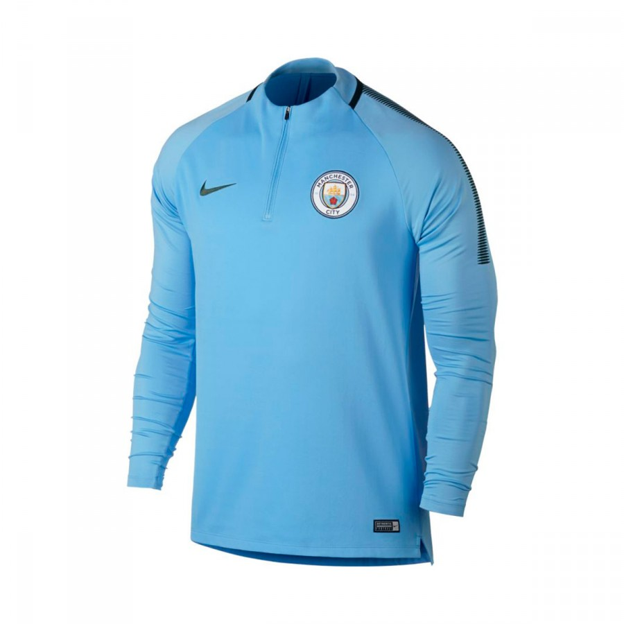 sudadera nike manchester city fc squad dril 2017 2018 field blue outdoor green soloporteros es. Black Bedroom Furniture Sets. Home Design Ideas