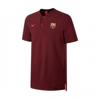Pólo  Nike FC Barcelona NSW Modern GSP 2017-2018 Night maroon-Team red-Hyper crimson