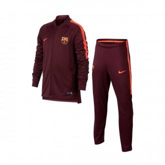 Chándal  Nike FC Barcelona Squad 2017-2018 Niño Night maroon-Hyper crimson